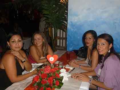 A picture of four beautiful Colombian ladies